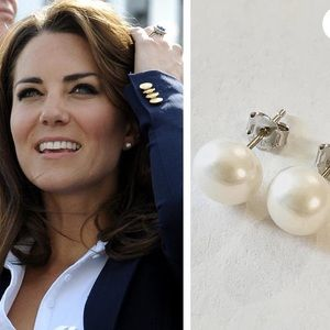 Kate Middleton pearl stud earrings